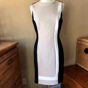 White House Black Market Color Block Dress